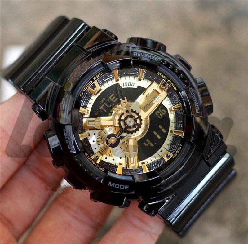 Analog Digital G Stil Männer-Sportuhren montre de luxe Automatische Licht Armee im Freien wasserdichte Designer Uhren der Luxuxmänner Uhr