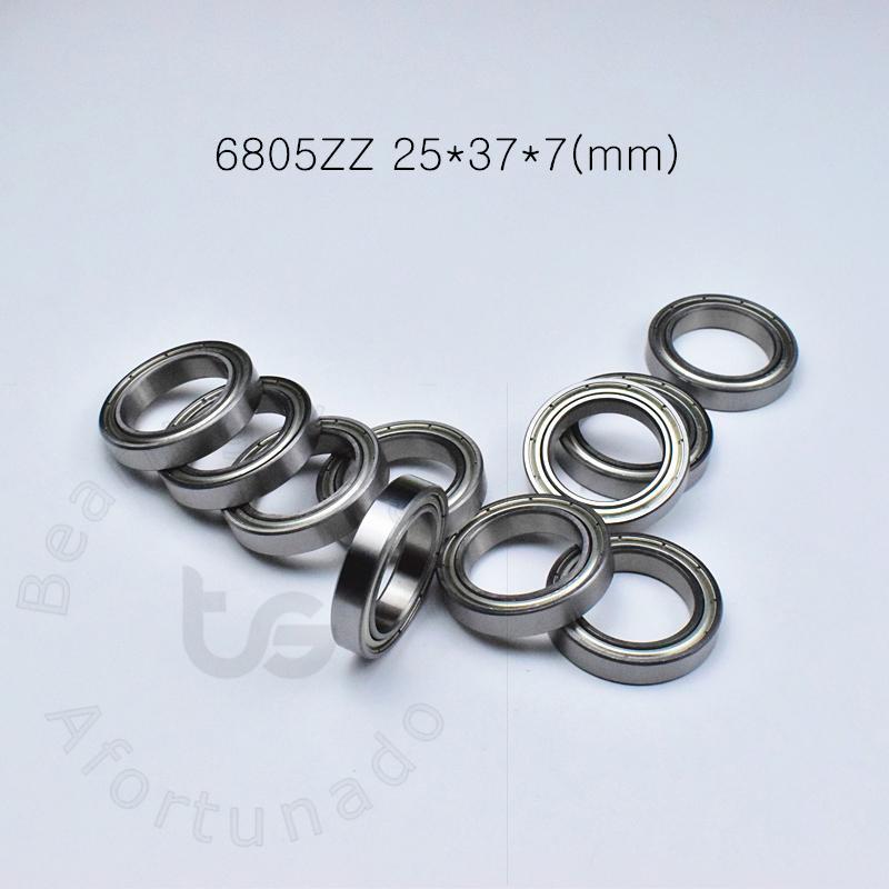 6805ZZ cuscinetto sigillato metallo a parete sottile cuscinetto trasporto libero acciaio cromato 6805 6805ZZ 25 * 37 * 7 mm Supporti profondo della scanalatura