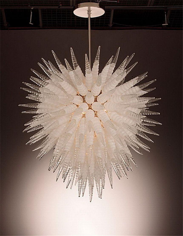 Ventilateurs de plafond Crystal Verre Salon décorée Borosilicate Verre Lustre Lighting Lightings 100% à la main Art Lumière