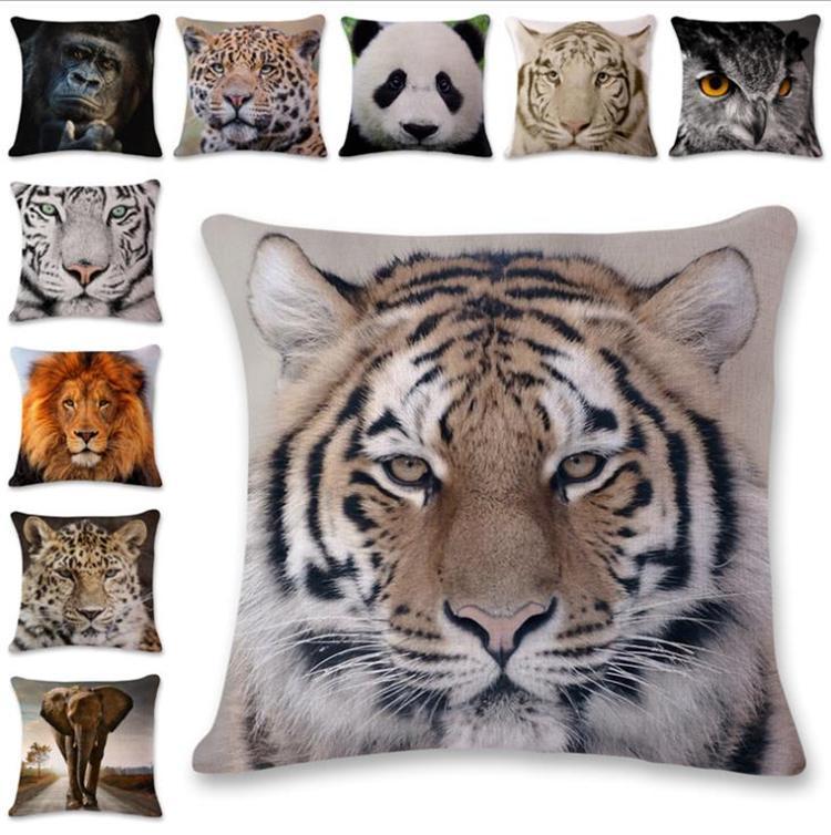 Nouveau coussin de cas animaux merveilleux style Taie d'oreiller Parti Accueil Lit Décoration Cadeaux souples Coussin 5925