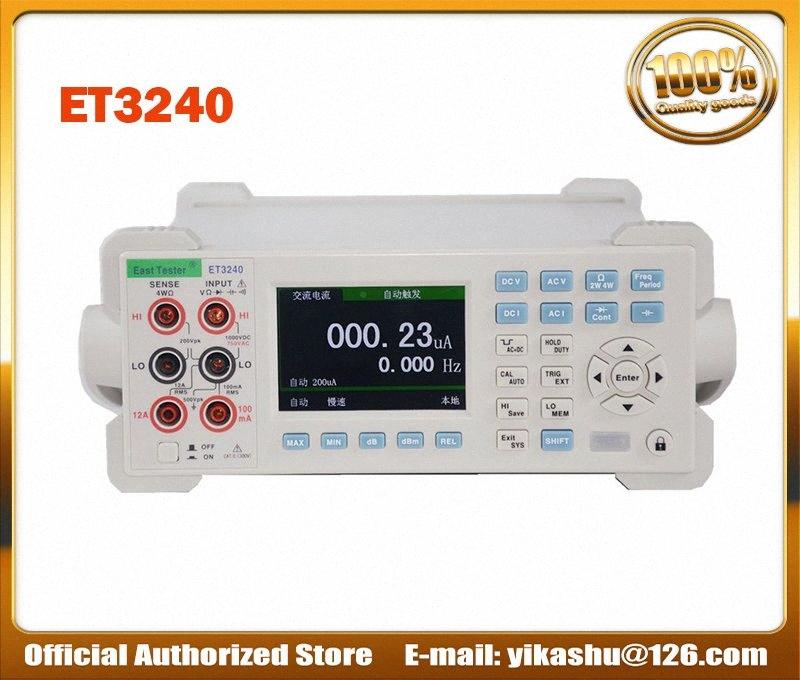 Цветной ЖК-цифровой мультиметр Емкостное сопротивление Частота измерения ET3240 Desktop Instrument DCV ACV DCI ACI Oq3k #
