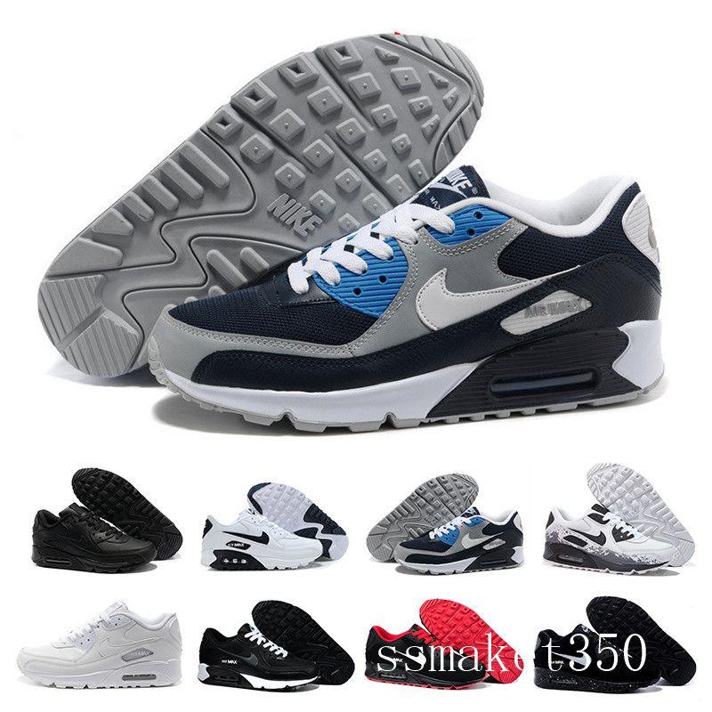 nike air max 90 90s airmax Chaussures Hommes classique 90 hommes et femme Chaussures Blanc Noir Rouge Entraîneur Coussin Air surface respirant Chaussures Casual 36-45 TL4-A