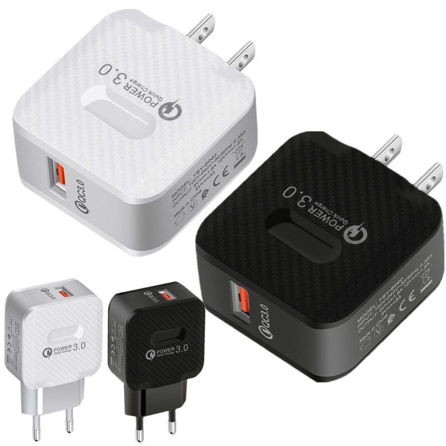 Schnelllade Eu US QC 3.0 Ac Home Reise-Adapter-Wand-Gebühr für iPhone 7 8 XR Samsung s20 S11 Android-Handy PC