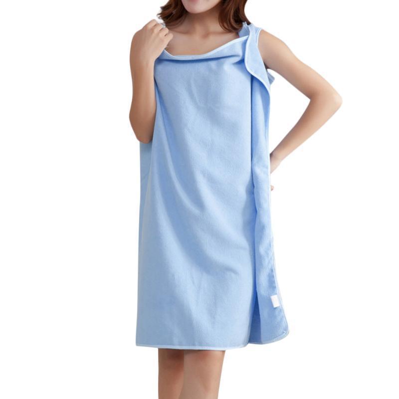 MUQGEW Winter Baumwolle warmer Bademantel Frauen Nachtwäsche Badetuch Mode-Dame-Girls Wearable schnelles Trocknen Magie Badetuch # g3
