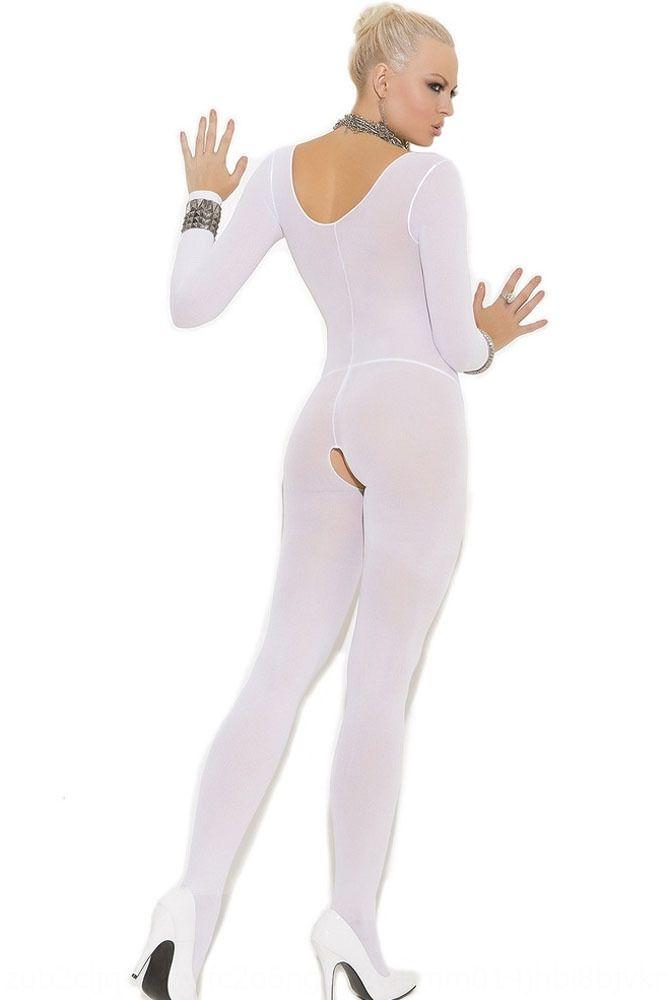 Les bas sexy-gamme ouverte Jumpsuit adulte soie Pyjama soie pyjama sexy transparent