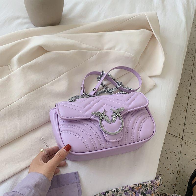 Kadınların 2020 yeni moda Kore moda hepsi maç Omuz zincir Lingge zincir çanta gündelik yabancı tarzı omuz haberci çantası
