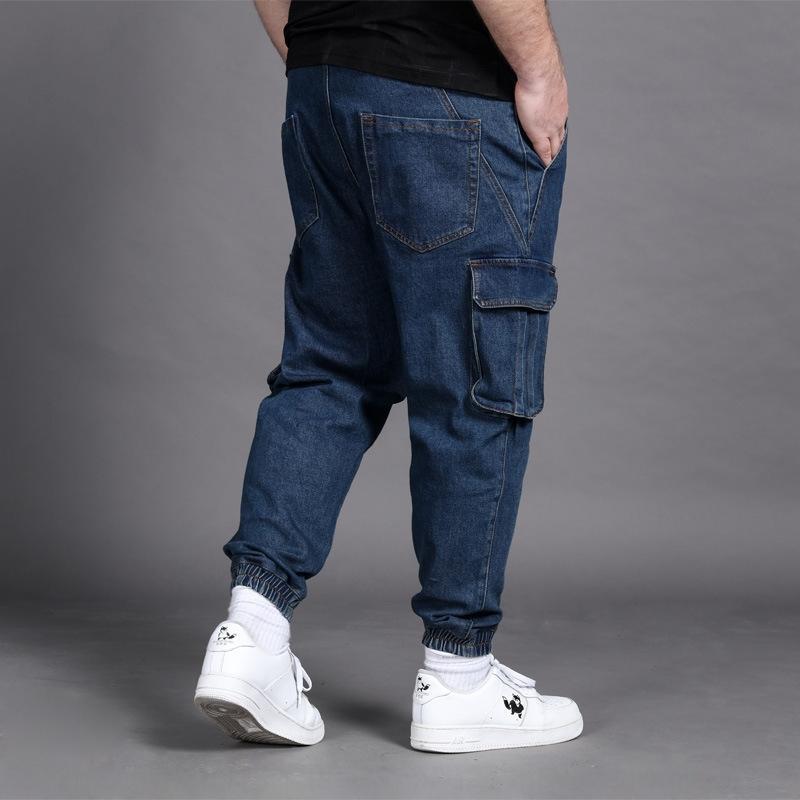 les hommes de grande taille jeans serrés vêtements de jeans jeans travail vêtements de travail leggings pantalon de radis à la mode gras, plus, plus la taille des hommes longs pantalons