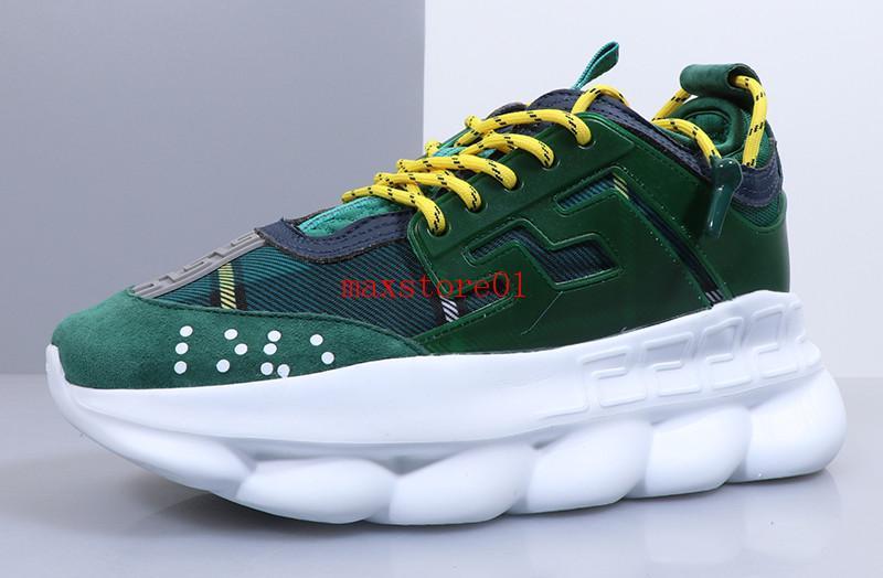 2019 nouvelles chaussures rouge vert chaussures casual concepteur de réaction en chaîne de chaussures pour hommes de haute qualité blanc occasionnels extérieur taille 36-45 Livraison gratuite