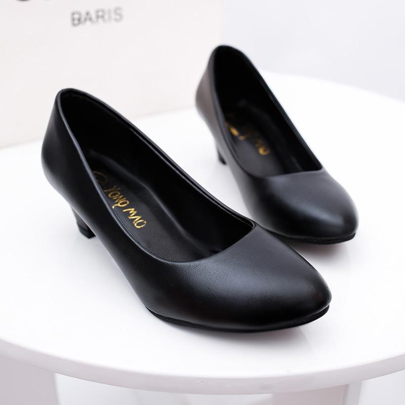 Neue Größe Frauen Schuhe dick mit Mutter Schuhe Etikette professionelle Arbeit