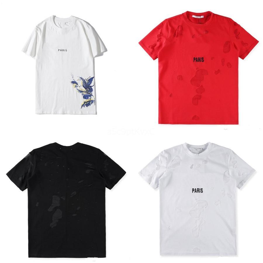 Vente en gros-KLV 2020 Nouveau Creative drôle mignon des hommes garçon Lettre Taille plus Imprimer T-shirts manches courtes en coton T-shirt Chemisier Hauts Sous-vêtements # QA703