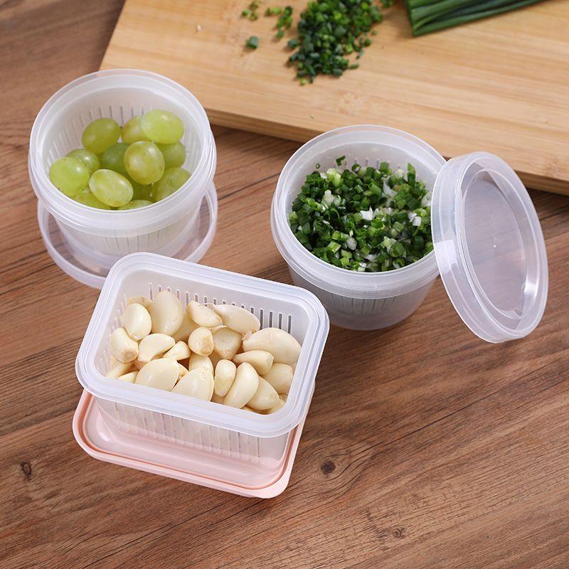 المفروم مزدوجة الأخضر والبصل والبصل والزنجبيل والثوم هش انخفاض ختم شفاف يتلقى ثلاجة حالة يمكن المبردة