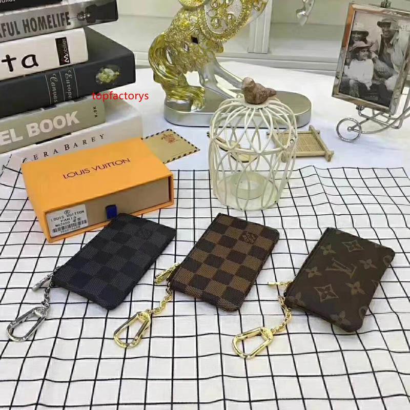 # 70274 5A caldo chiave del marchio Classic Design donne degli uomini raccoglitore chiave del sacchetto di fascino tela Damier caso di chiavi Portafogli Portachiavi M62650 N62658