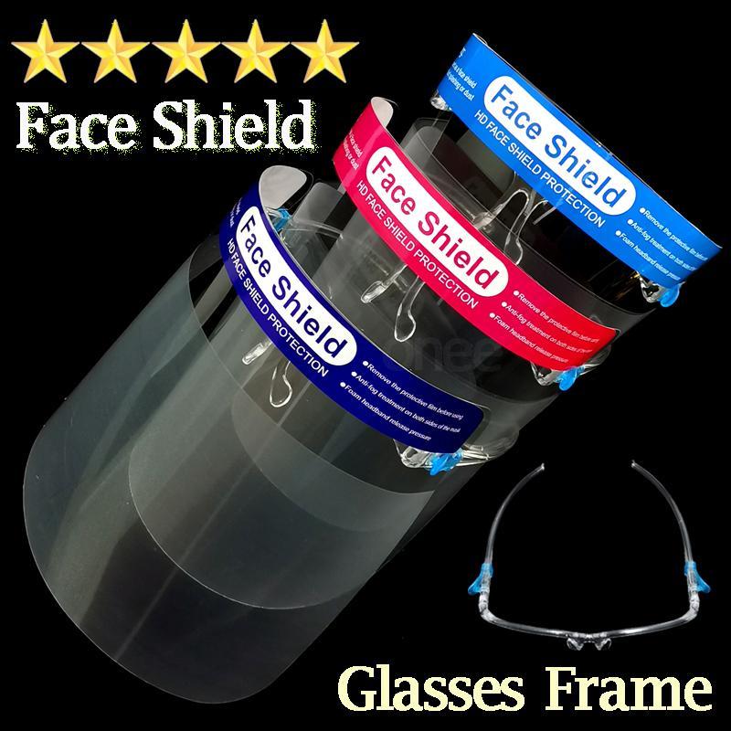 Maschera protettiva Scudo vetri liberi della montatura per adulti bambini Anti-Fog Full Face trasparente di protezione del bambino dei bambini del capretto di sicurezza magazzino degli Stati Uniti