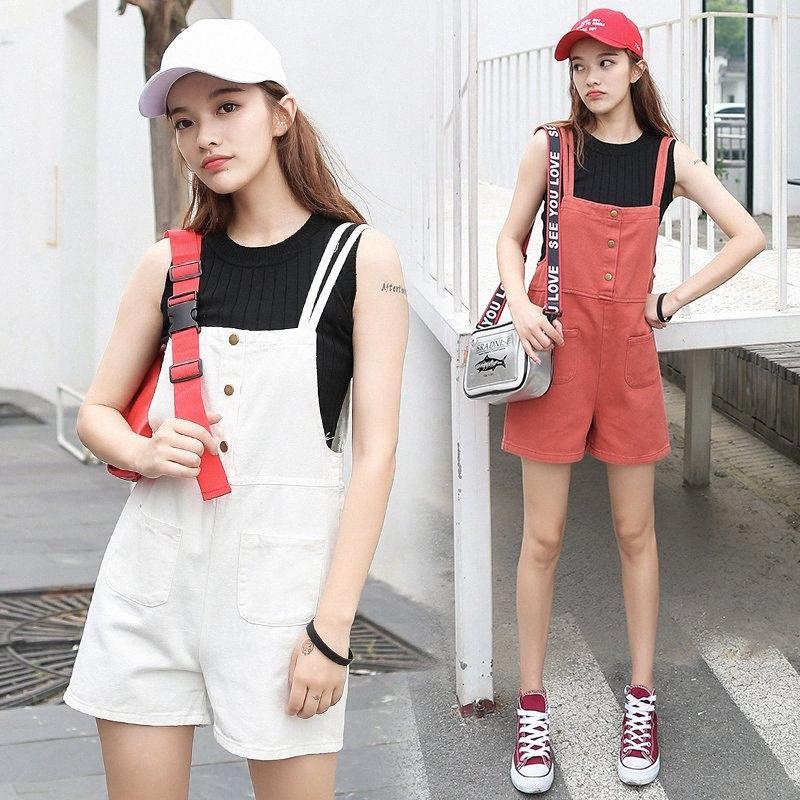 3 couleurs XL-été de très bon goût de style coréen Denim Shorts Femmes Denim Jumpsuit courtes Salopette Femme Jeans 2019 (C1692) wqDU #
