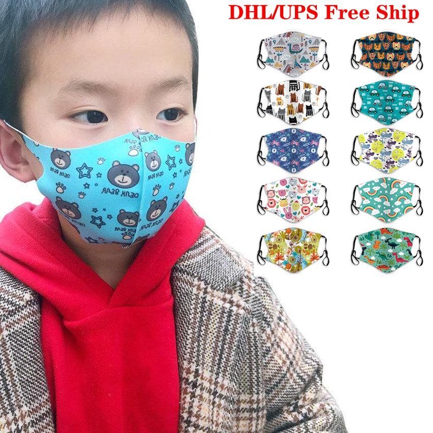 Mixed Colors Kids Outdoors Face Masks Printed Dustproof Mask Facial Cover Masks Anti-Dust Breathable and Comfortable Sports Cycling Mask