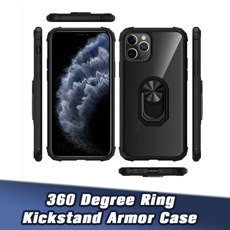 Pour iPhone 12 5.4 6.1 6.7 Béquille Téléphone Couverture antichocs Etui de protection pour iPhone8P XsMax Xr