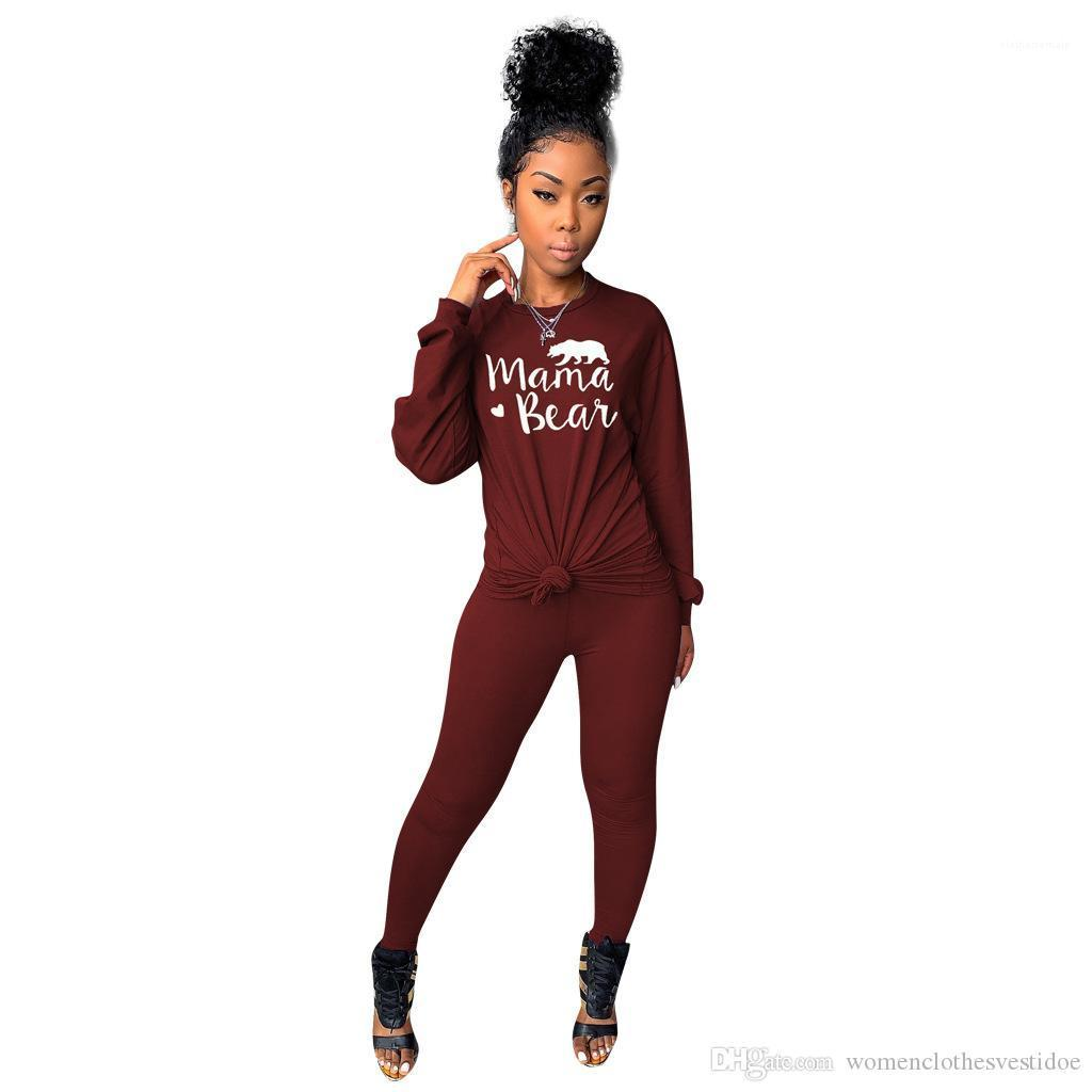 Color Womens Printed 2PCS Sets Designer Women Tracksuits Spring Autumn Womens Casual Active Two Piece Pants Solid