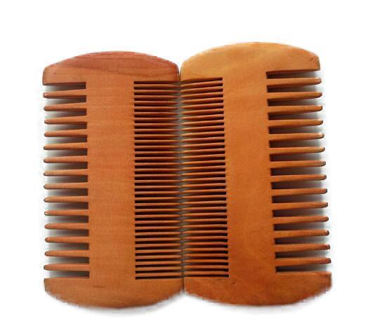 Bolso de madeira Barba Pente lados dobro Super Limite Grosso Madeira Combs Pente Madeira Lice Ferramenta de pêlos de animais