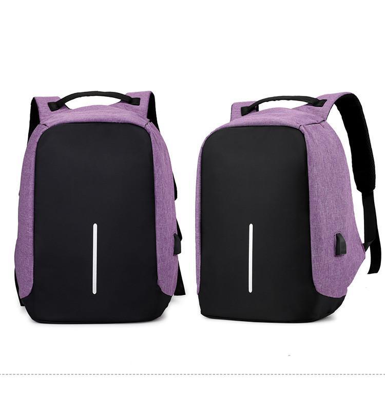 Anti-Diebstahl-Laptop-Rucksack mit USB-Anschluss für Travel Business School Außen Daypack Männer Passend 15 Zoll Notebook