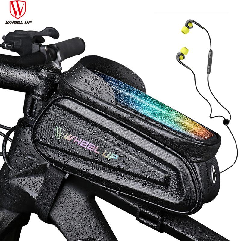 Bicycle Bag Front Top Tube Cycling Bag Waterproof Touchscreen 6.5/7.0 inch Phone Case Frame Handlebar Bag MTB Bike Accessories MX200717