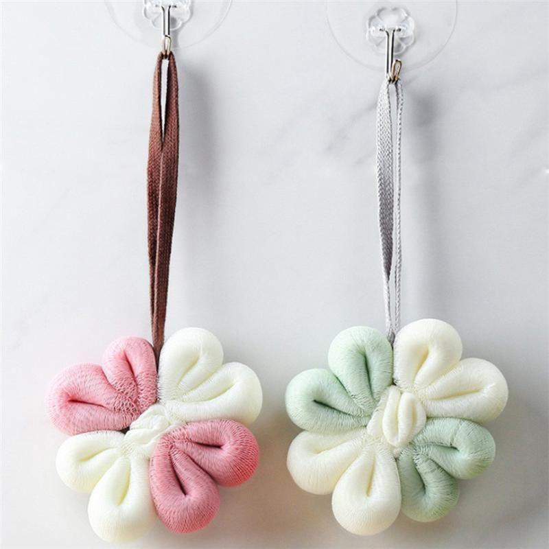 Vücut Temizleme Banyo Duş Aksesuarları 0226 # için Çiçek Banyosu Duş Mesh Topu Arındırıcı Scrubber