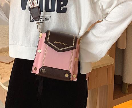 Bolsa de Nueva versátil banda ancha oblicua Crossbody de la manera de hombro simple de 2020 populares Diseñador mujer pequeña SquareShoulder Los más vendidos