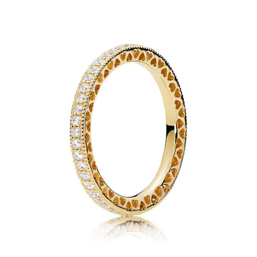 Reale 925 Sterlingsilber CZ-Diamant-Ring mit LOGO und ursprünglicher Kasten für Pandora Stil Ehering, Verlobungs Schmuck für Frauen