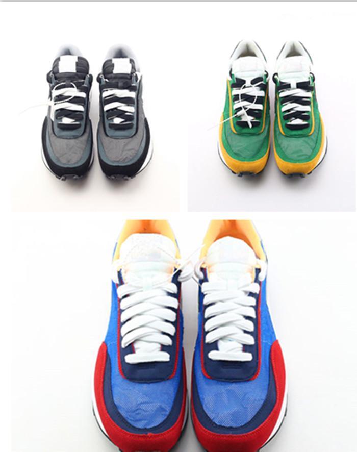 Mit Kasten heiß Undercover x LDV Waffel blau grün Sacaii Casual Schuhe Weiß Blau Gelb Schwarzer Mens Toki Slip Luxus Designer Schuhe