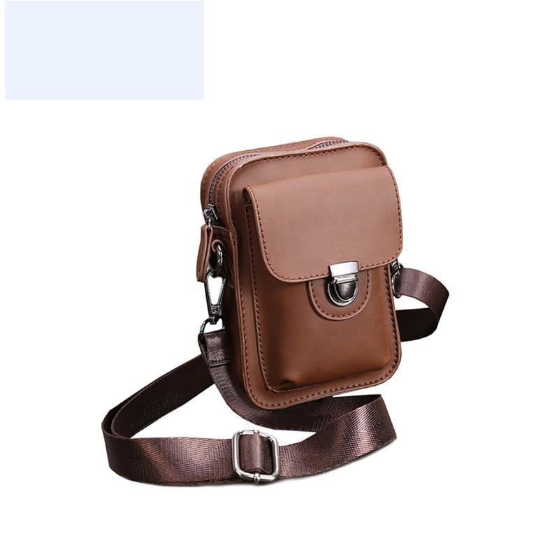 حقائب جلدية خمر للرجل بو الجلود حقيبة crossbody الرجال عارضة واحدة الكتف حقيبة الذكور الرجال الصغيرة رسول حقائب