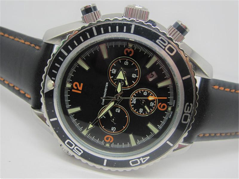 El acero inoxidable reloj clásico hombre de negocios la venta caliente negro correa de reloj masculino reloj automático reloj de moda de hombres nuevos relojes om24