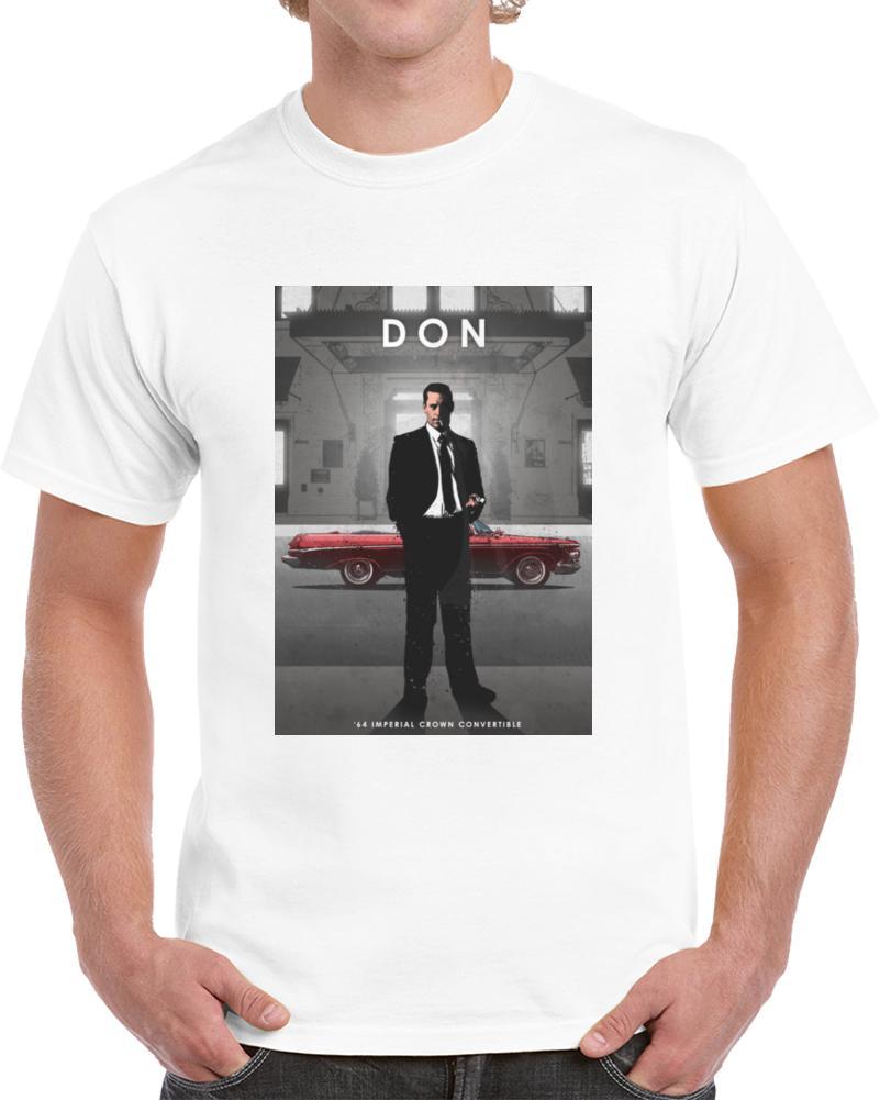 Hombres camiseta Don Draper camiseta camiseta camiseta de las mujeres