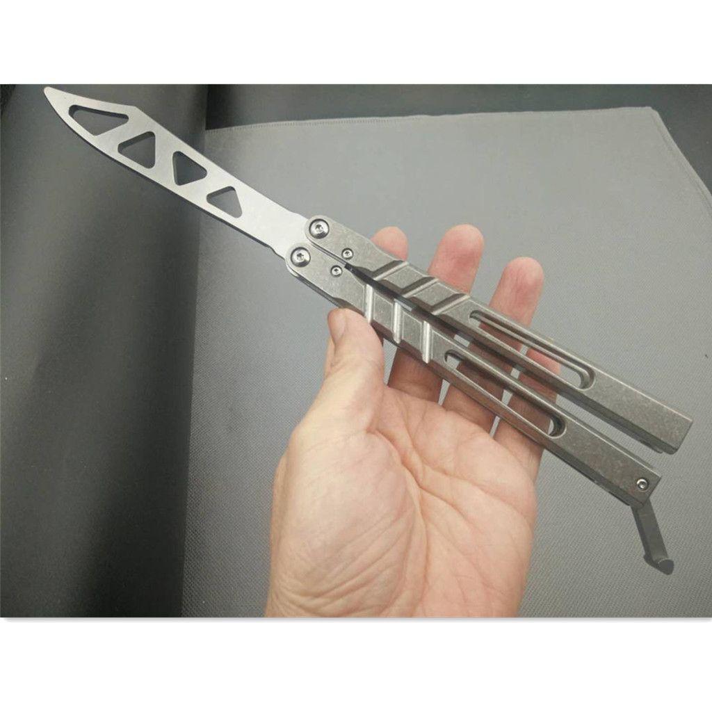 2 цвета Бабочка тренер нож BRS Альфа Beast AB Channel Титановые ручки D2 клинка Втулка системы кокетка Нож охотничий нож EDC