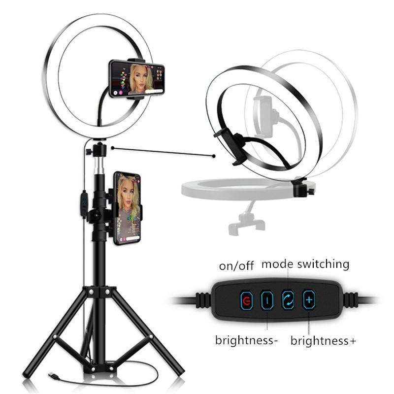 3in1 16 سنتيمتر 26 سنتيمتر led حلقة حلقة ضوء صورة استوديو كاميرا فيديو ملء ضوء ل youtube ماكياج selfie مع 210 سنتيمتر حامل الهاتف ترايبود كليب