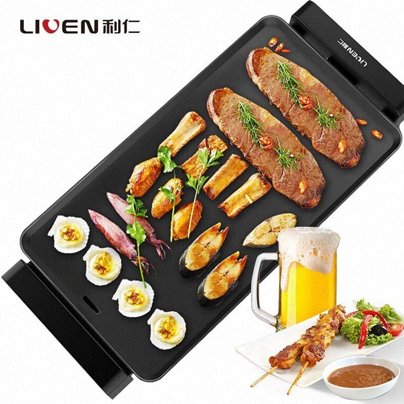 L Electricidade Queime Forno eléctrica doméstica Baking Pan Churrasco Máquina Kebab Máquina sem fumaça Dont vara Forno UQoG #