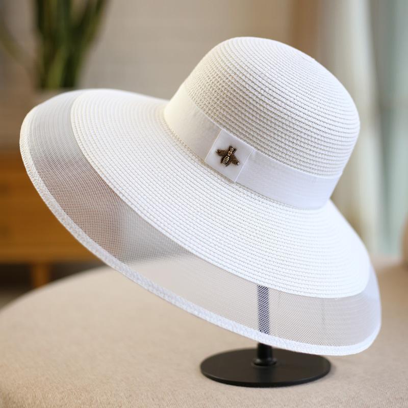 2019 cappelli estivi per Beach UN Women cappelli per le donne cappello visiere tesa larga Cappello Cappelli Y200619