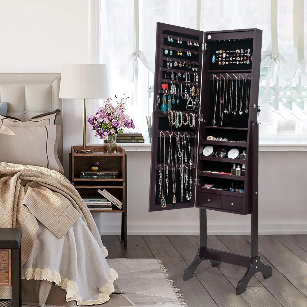 Im europäischen Stil Spiegel, einfache Ganzkörperbodenspiegel, Zimmer Ankleidespiegel Wandbehang, eine Garderobe Schrank, Objektivgehäuse