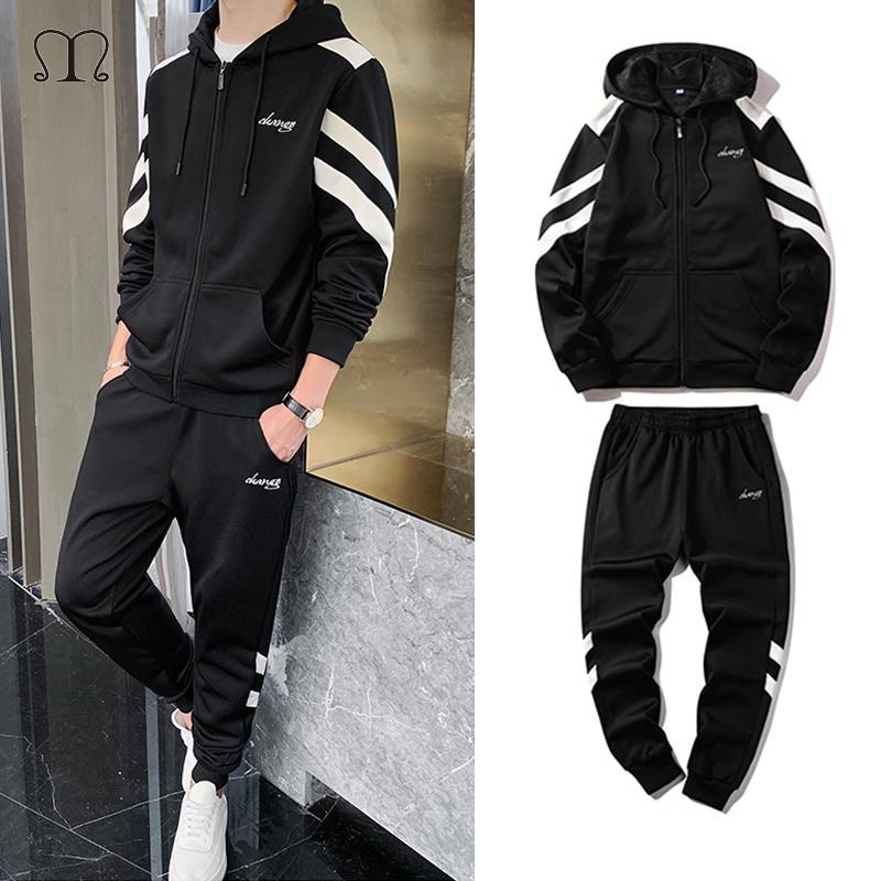 Brand Clothing Men's Fashion Tracksuit Casual Sportsuit Men Hip Hop Hoodies Sweatshirts Sportswear Plus Size Male Joggers Set