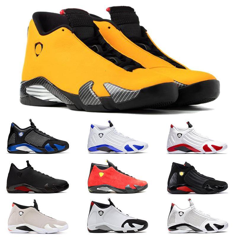 Yeni jumpman 14 14s XIV erkek basketbol ayakkabıları sarı şeker kamışı spm kraliyet mavisi SE Siyah Ferrar Dönüm spor ayakkabı boyutu x Ferrar 13