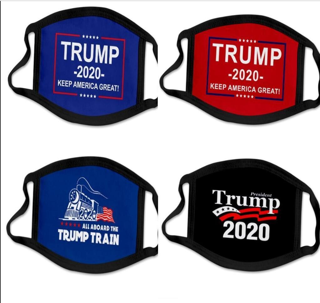 3D impressão Trump 2020 máscara do partido Windproof Cotton Mouth Máscaras Adulto eleição americana Estados Unidos Máscara Máscara Negra