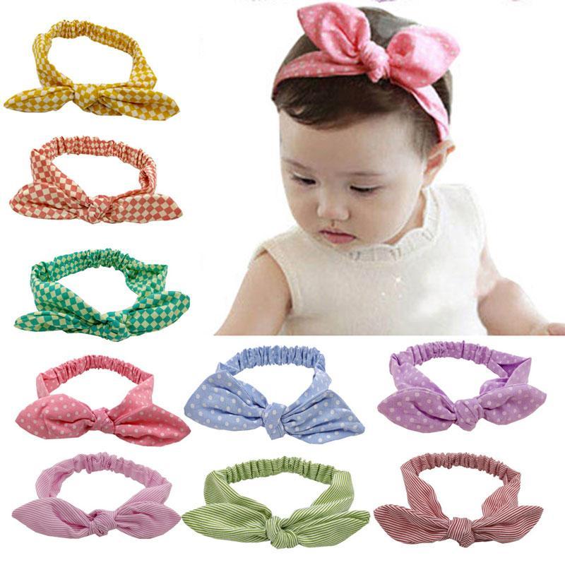 Lindo bebé niñas elastic dot bunny bunny ostebands infantil Hairbands niños accesorios para el cabello niños cabezales de cabeza