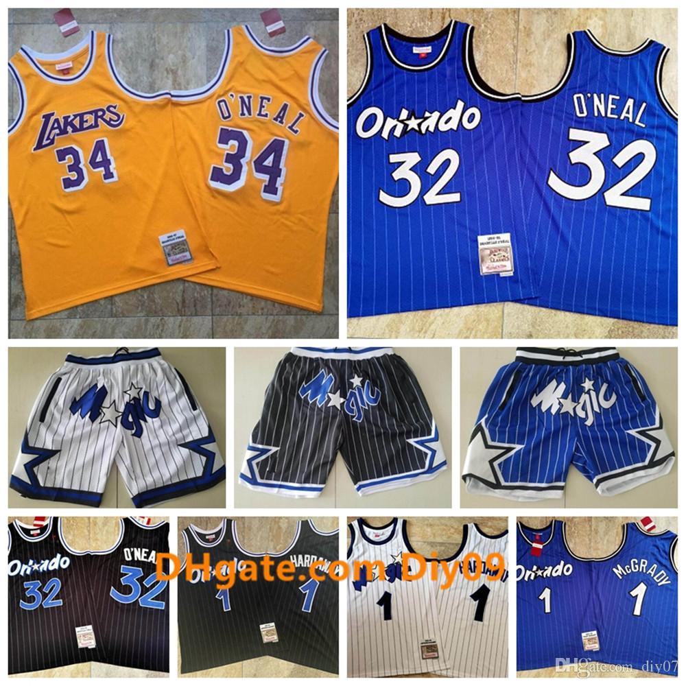 Shaquille O Neal 32 OrlandoMagicJersey 1 TracyMcGrady Penny HardawayNBA Just Don Shorts Mitchell Ness Basketball Jerseys