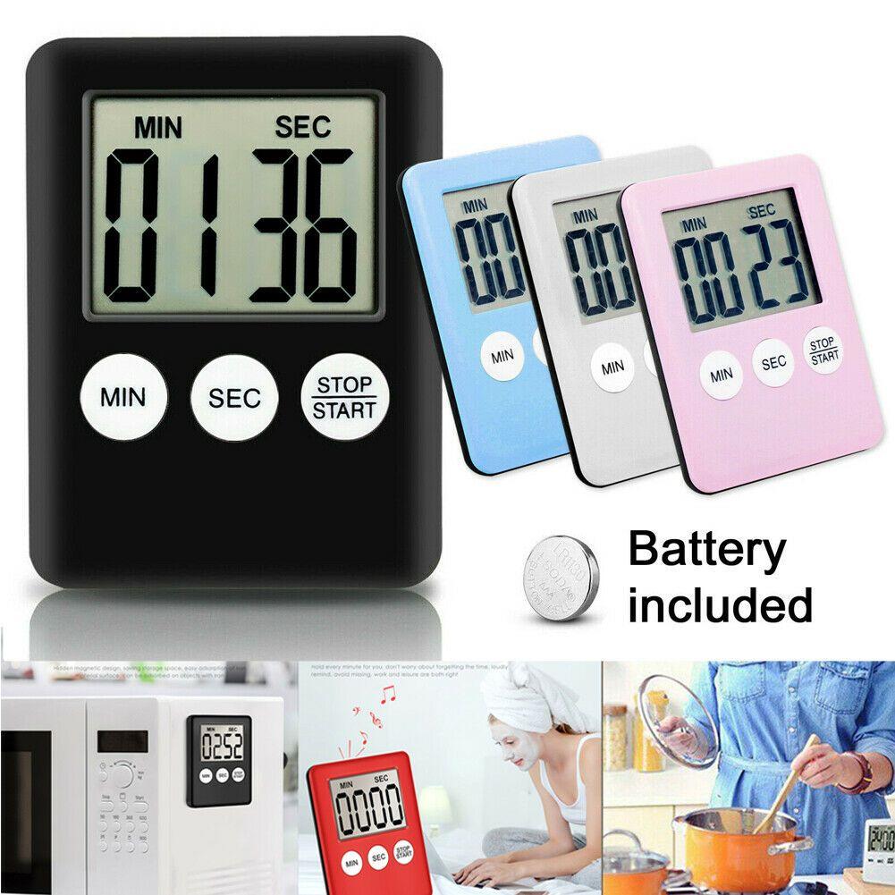 Büyük Mutfak Pişirme ABS LCD Dijital Zamanlayıcı Sayımı Aşağı Yukarı Saat Yüksek Olarak Alarm Manyetik Öğrenme Zaman Yönetimi