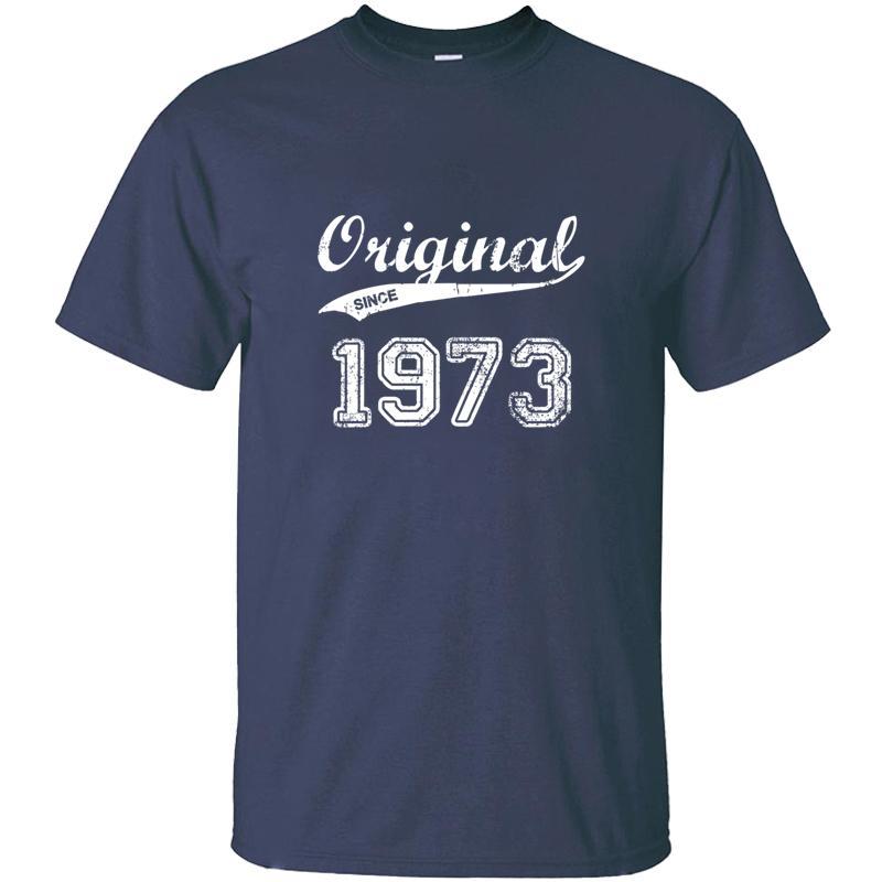 Erkek Harf Grafik O Boyun Giyim Boş Yetişkin Tişörtler 2019 Plus Size S-5XL Pop Top Tee için Vintage Özelleştirilmiş 1973 T Gömlek