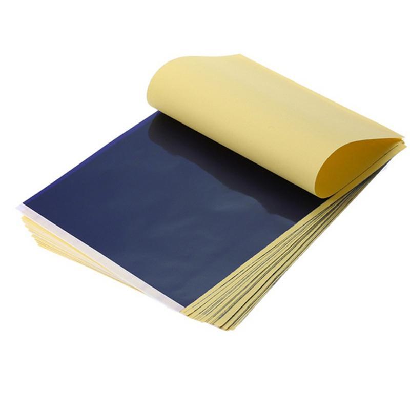 الوشم نقل ورقة الوشم الاستنسل الناسف الورقية الكربون الحرارية للوشم إلى الجلد A4 حجم الورق JK2007XB