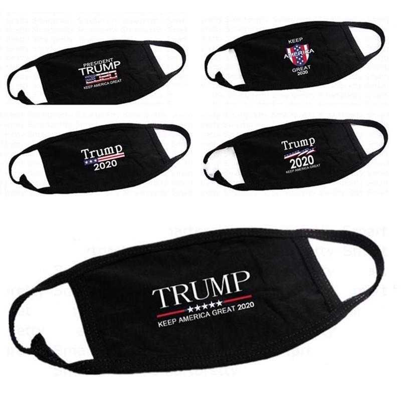 DHL 3D imprimir Trump 2020 lavável Pano máscara máscaras à prova de vento de algodão Boca Máscara Adulto eleição americana Estados Unidos Moda Preto