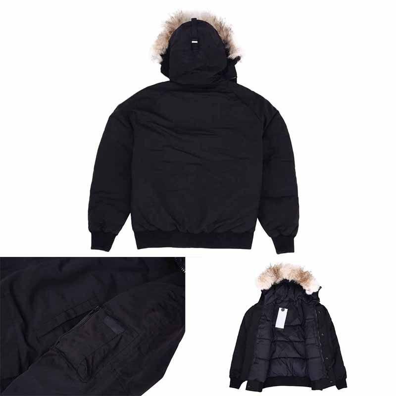 Лучшего качество новых люди способ Parka водонепроницаемого Windstopper Advanced Fabric Толстого Down With Real Wolf Fur Winter Keep Warm Jacket