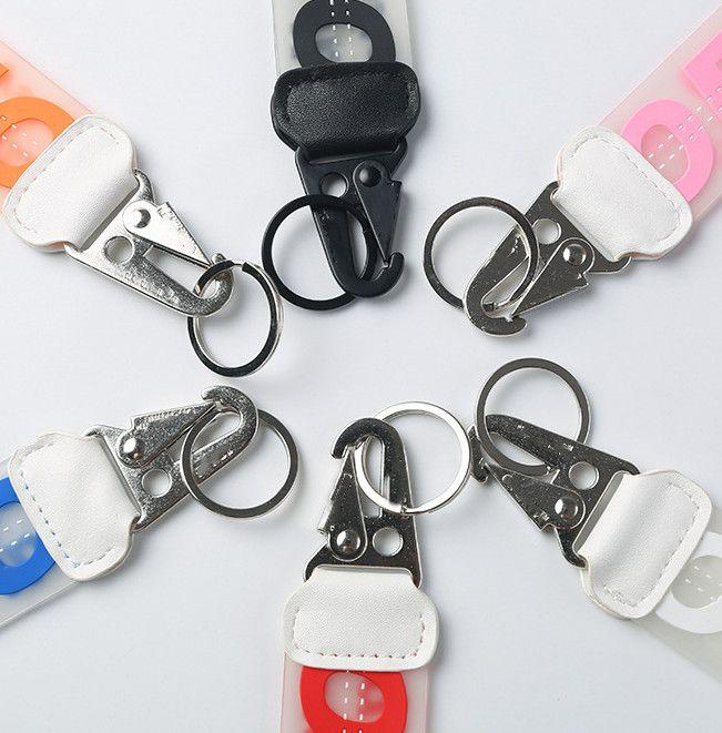 Alta Qualidade Keychians Transparente Jelly Epoxy Chaveiro Letra Jelly Pingente Jeans Personalidade Pingente Carro Keychain Fornecimento Atacado