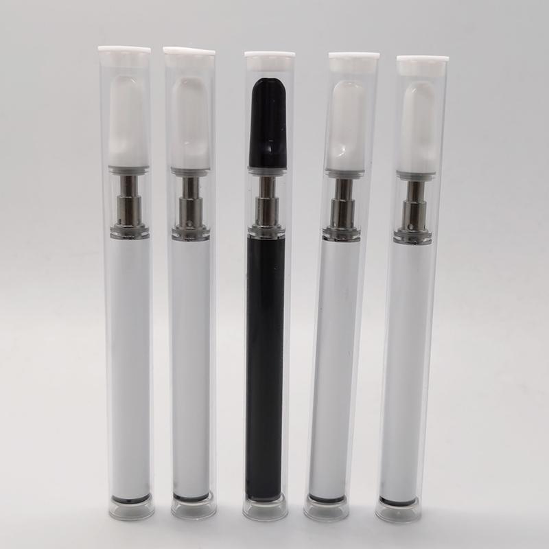 0,5 ml cartucce Packaging Bianco Nero monouso Starter Kit Pod 350mAh batteria scarica Drip Tip Vape Penne vaporizzatore dispositivo Svuotare Carrelli Vapor