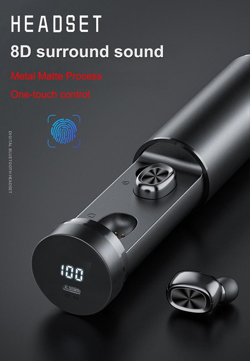 Comparer avec des articles similaires B89TWS V5.0 2020 LED sans fil même Keep Bluetooth casque sans fil Bluetooth écouteurs de qualité d'affichage