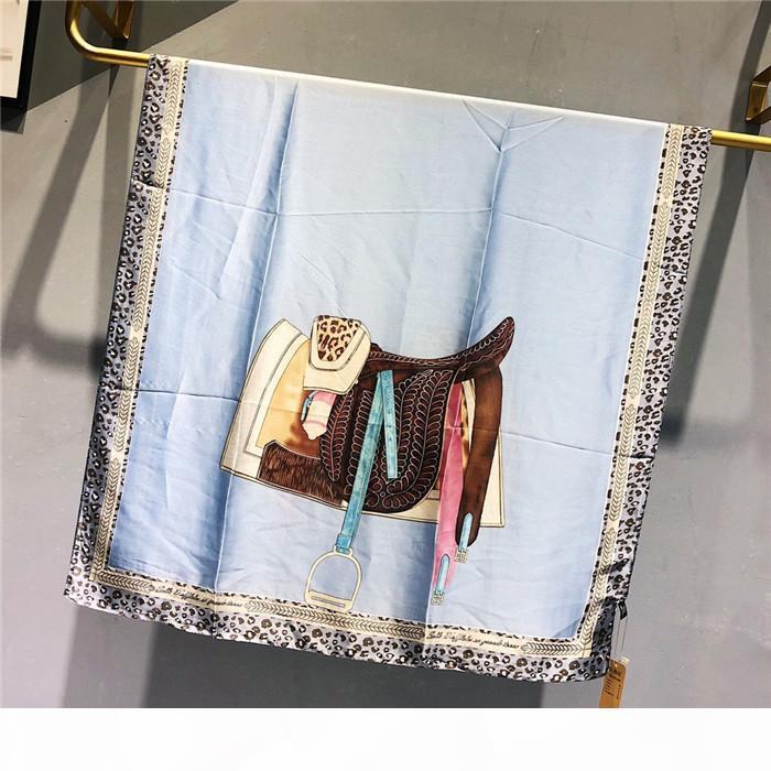 1289High qualité des designers de luxe haut de gamme mode foulard en soie dame printemps et en été nouveau imprimé foulard 2020 vente chaude